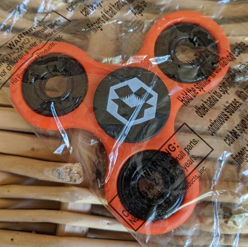 Magic Box Exclusive Fidget Spinner Orange & Black w/White Logos