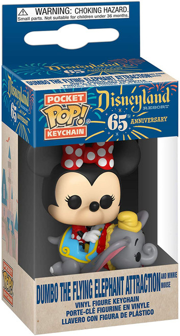 Disneyland 65th Anniversary Flyng Dumbo Ride with Minnie Pocket Pop! Key Chain