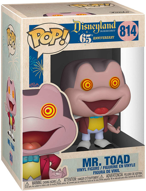 Disneyland 65th Anniversary Mr. Toad Spinning Eyes Pop! Vinyl Figure