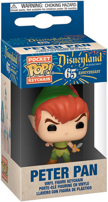Disneyland 65th Anniversary Peter Pan Pocket Pop! Key Chain