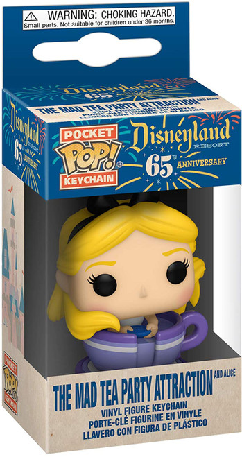 Disneyland 65th Anniversary Alice in Teacup Pocket Pop! Key Chain