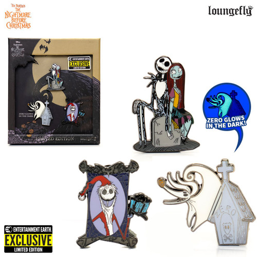 Nightmare Before Christmas 3-Piece Pin Set - Entertainment Earth Exclusive