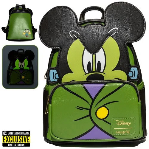 Mickey Mouse Frankenstein Mickey Cosplay Mini-Backpack - Entertainment Earth Exclusive