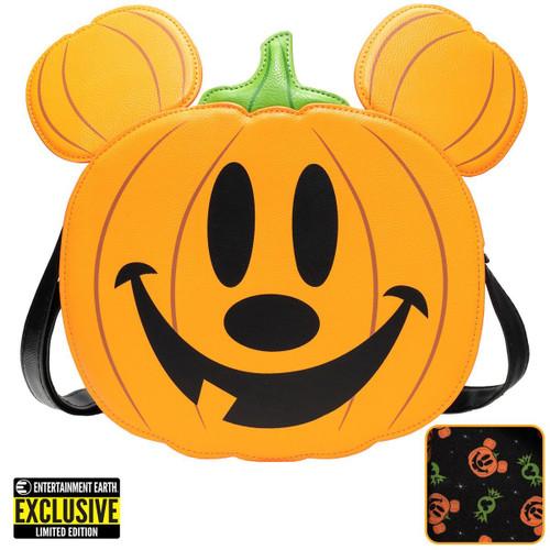 Mickey Mouse Jack-o'-Lantern Mickey Crossbody Purse - Entertainment Earth Exclusive