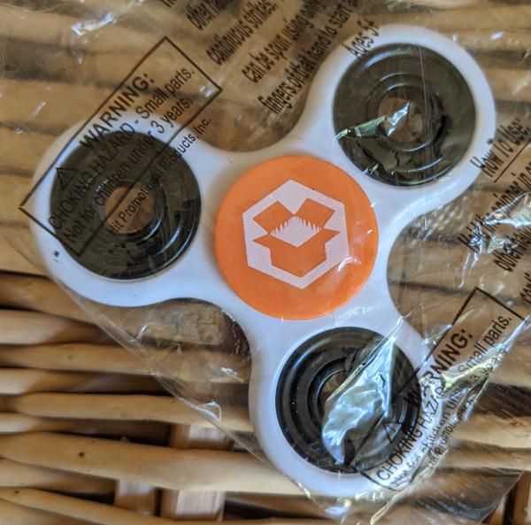 Magic Box Exclusive Fidget Spinner White & Orange w/White Logos