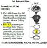 6541-288 Power Pro RX3 Jet Assembly  [Includes Jetface, Jetback, O‑Ring and Nut]