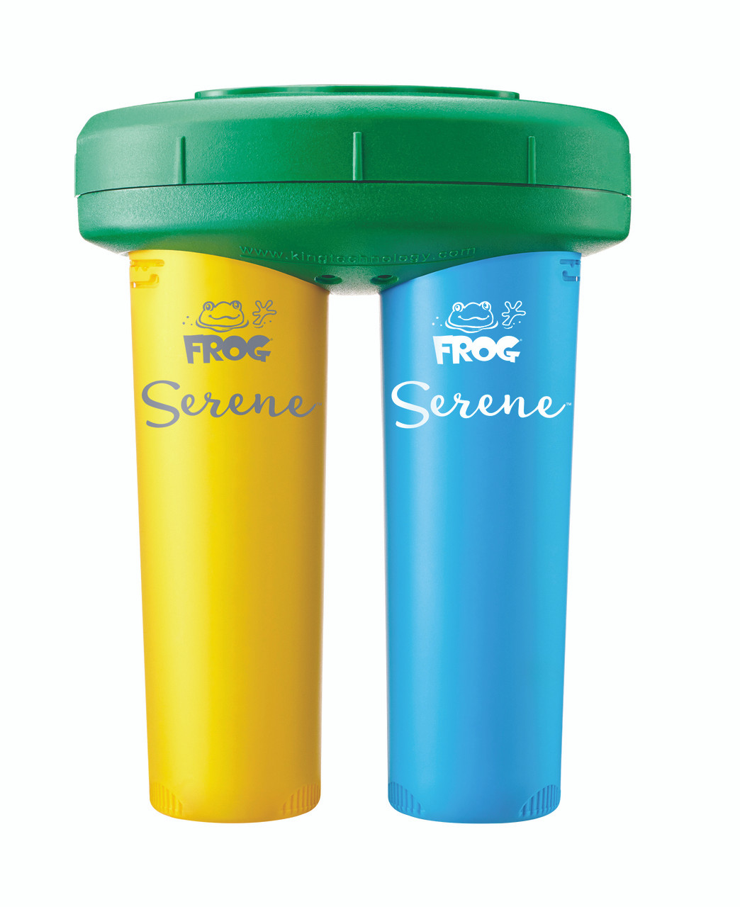 SPA FROG Replacement Cartridges 5 Pack 4 Bromine // 1 Mineral Frog Serene Cartridge Kit Plus Extra Bromine with Bonus Blue Spa Thermometer