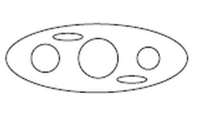 "OP03-0172-48 - Artesian Spas Control Plate, 9"" Direct Flow"