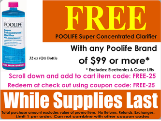 POOLIFE SUPER CONCENTRATED CLARIFIER - FREE PROMO OFFER