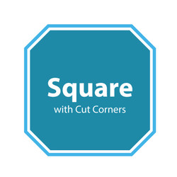 Square with Cut Corners Spa Cover