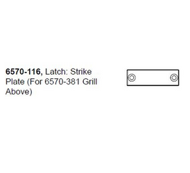 6570-116 Latch: Strike Plate for J-LX®/J-LXL® (2011+)