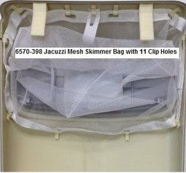 6570-398 Jacuzzi® Mesh Skimmer Bag with 11 Clip Holes