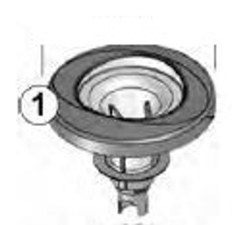 6541-118 Jacuzzi® Jet FX2 with/Stainless Steel Escutcheon 2014 Light Gray