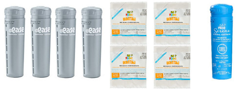4 Month* Kit w/ @Ease Smart Chlor (4) Maintain (4) and Mineral (1) - @Ease In-Line SmartChlor Replacement Refill- Auto Shipment Save 5% - Subscribe Below (`@Ease 4 Month Kit (AUTO))