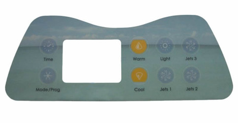 11-0036-77 - Artesian Spas Label, Island Spas 8 Button (11-0036-77)