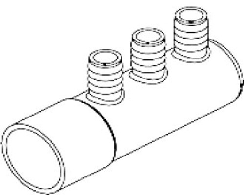 "3-Port 1"" Barb x 2"" Slip x Blind End Water Manifold (6541-058)"
