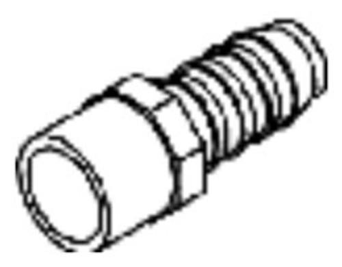 """Adapter 0.75"""" Spigot x 0.375"""" Barb (6540-063)"""