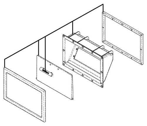 Enclosure: Stereo Assembly ABS Gray 2007+ (6455-259)