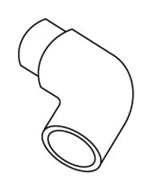 "PVC Elbow 90 Degrees 1.5"" Spigot x Slip (6540-070)"