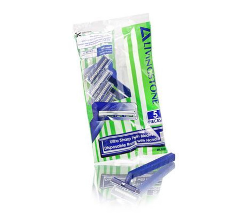 Livingstone Twin Blade Disposable Razor 5pc