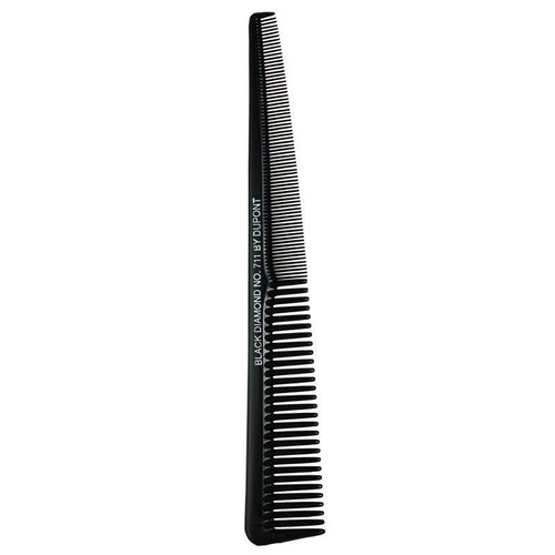 Black Diamond by Dupont 7 1/2 Tapered Barber #711 Comb
