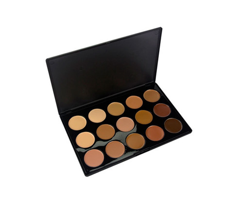 Crown Brush 15 Color Creme Foundation Palette