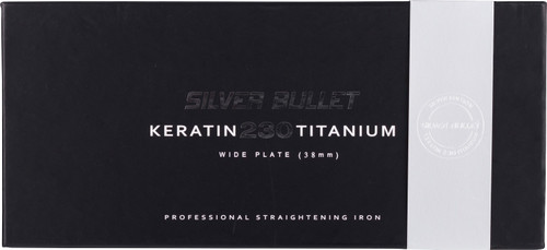 Silver Bullet 230C Keratin Titanium Silver Wide Plate Straightener