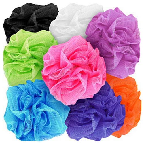 Body Cleansing Puff / Loofah Mixed Colours