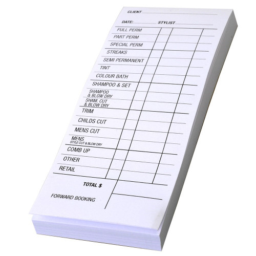 Salon Docket Pad-White