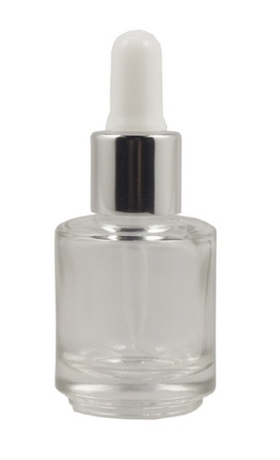 Empty Round Squat Bottle with Silicon Dropper 15ml