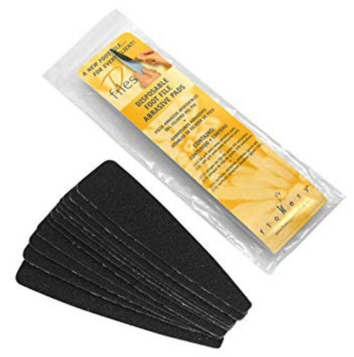 Flowery D File 100 Grit Replacement Foot File Pads 25pc (Discontinued Item)