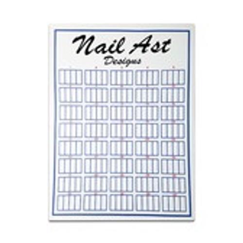 Nail Tip Display Board Flat 160pc