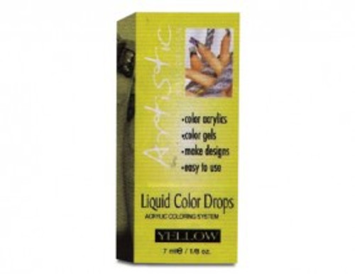 Artistic Nail Design Liquid Color Drops Yellow (Discontinued Item)