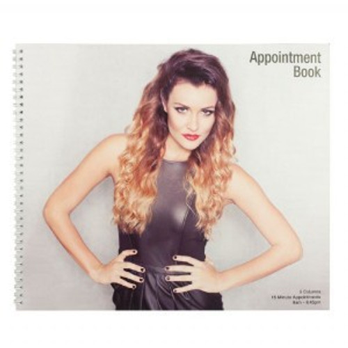 Appointment Book 6 column 15 min 100 page