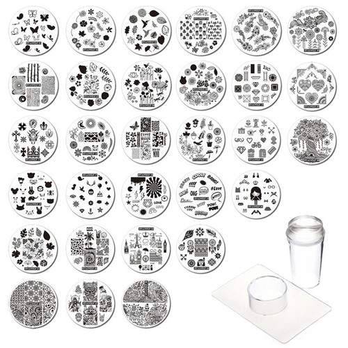 Nail Art Metal Stamping Plate Mixed Design