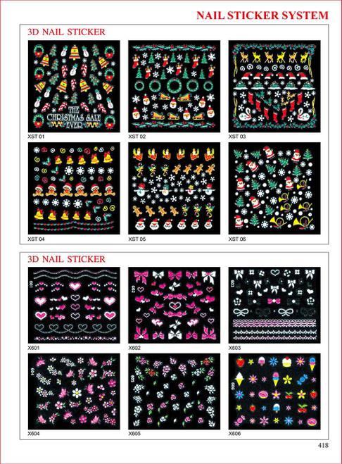 Sina 3D Christmas Nail Sticker  XST02