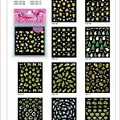 Sina 3D Christmas Nail Sticker X16