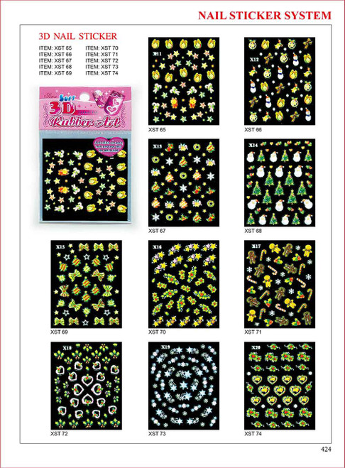 Sina 3D Christmas Nail Sticker X19