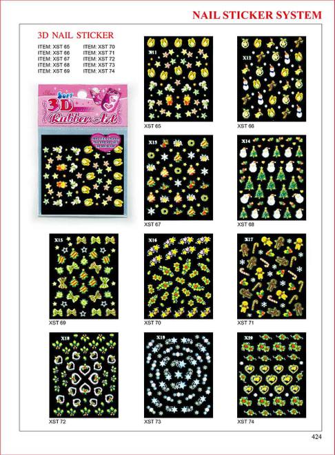 Sina 3D Christmas Nail Sticker X15