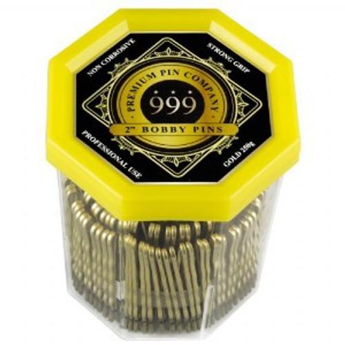 "999 Premium Bobby Pins 2""inch Gold 250g"