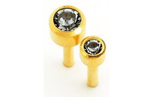 Natural Look By Caflon International Blu Carded Studs