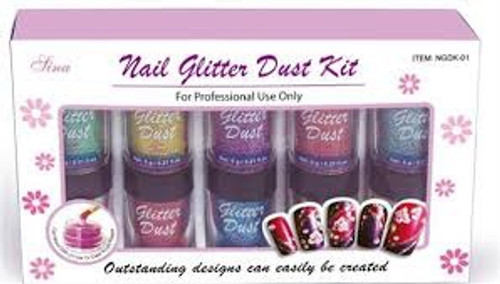 Sina Nail Glitter Dust Assorted Colours