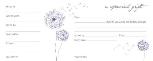 Gift Voucher Book 25pc