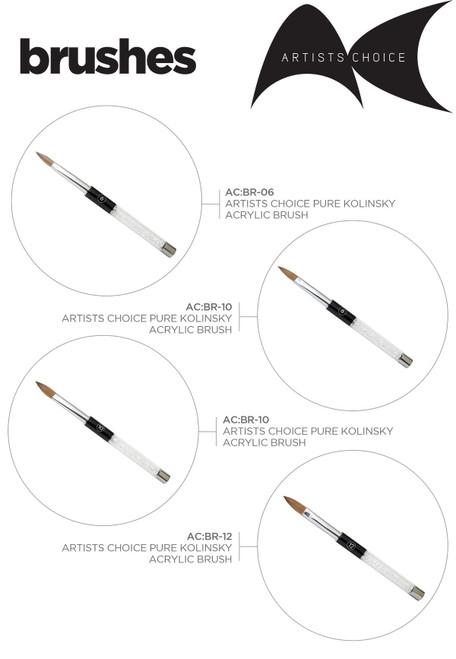Artists Choice Acrylic Brushes