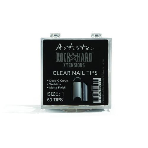 Artistic Rock Hard Nail Xtensions Nail Tips - Clear