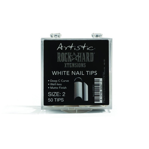 Artistic Rock Hard Xtensions Nail Tips - White