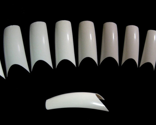 Ultra White No Well Deep Smile Line Tips 600pc in Bag