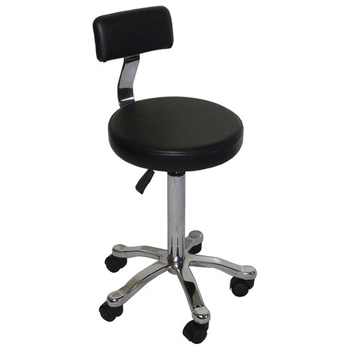 Beauty Stool with Back White