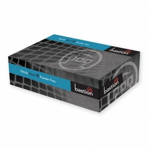 Bastion Nitrile Soft Black Powder Free Gloves 100pc