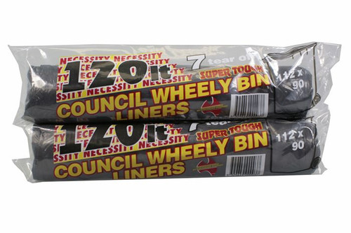 120L Bin Liners -  7pc